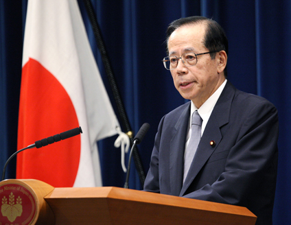 辞任会見の福田首相